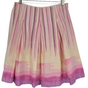 Nine & Co Weekend Water Color Mini Skirt 6 Pink